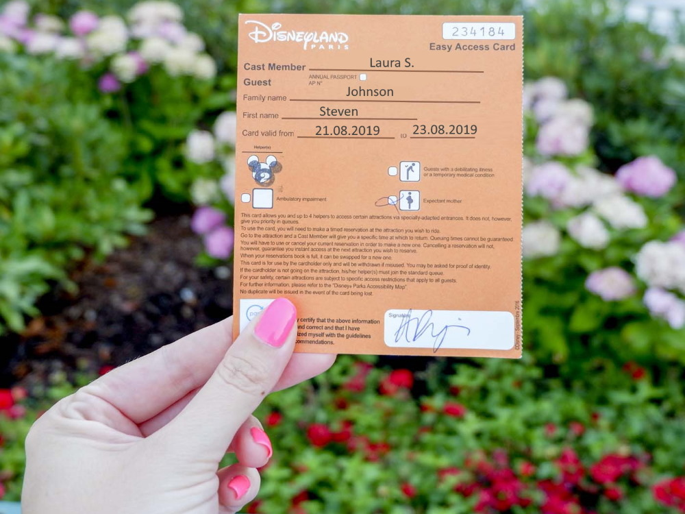 Easy Access Card Disneyland Paris
